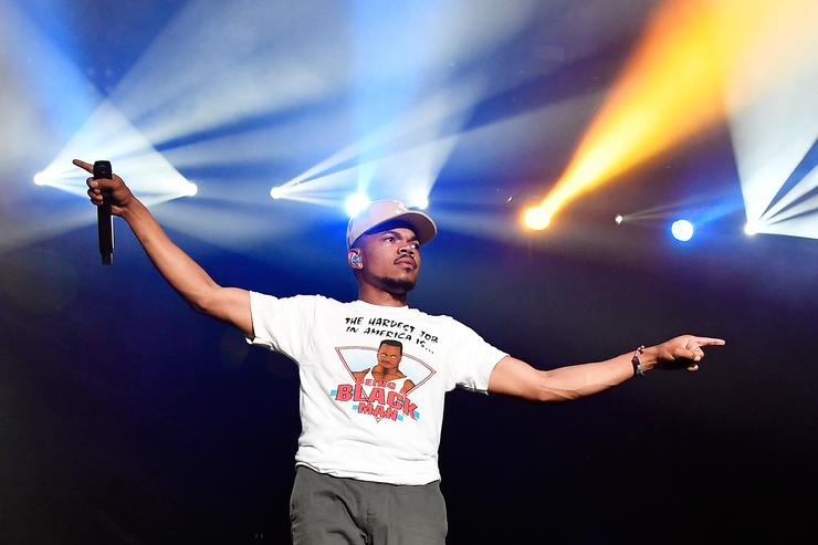 Chance The Rapper performs at the Surf Stage during 2017 Hangout Music Festival on May 21, 2017 in Gulf Shores, Alabama