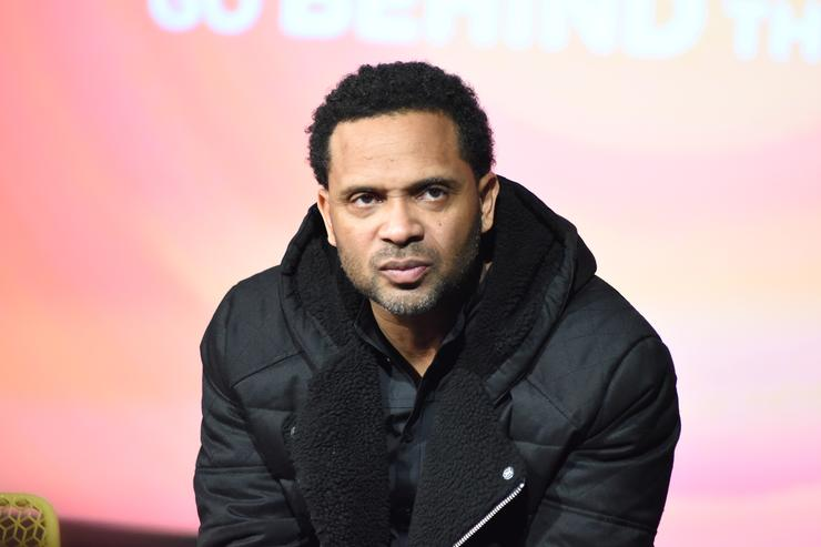 Actor Mike Epps speaks on stage during 'Uncle Buck' event during aTVfest 2016 presented by SCAD on February 7, 2016 in Atlanta, Georgia