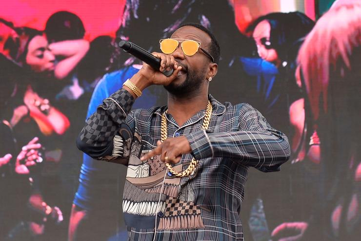 Juicy J performs onstage during the Daytime Village Presented by Capital One at the 2017 HeartRadio Music Festival at the Las Vegas Village on September 23, 2017 in Las Vegas, Nevada