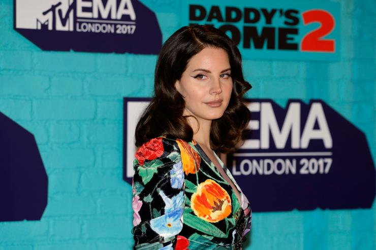 Lana Del Rey attends the MTV EMAs 2017 held at The SSE Arena Wembley