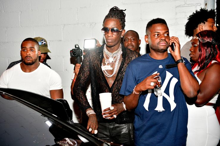 Young Thug and Manny Halley attend Young Thugs 25th Birthday and PUMA Campaign on August 15, 2016 in Atlanta, Georgia.