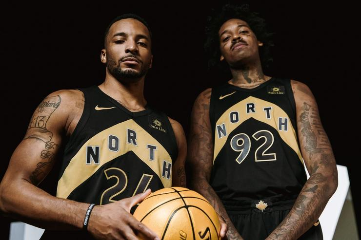 See the Toronto Raptors' new jerseys inspired by Drake's OVO record label