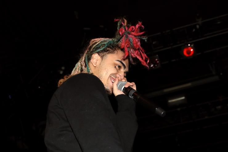 Lil Pump performs at PlayStation Theater on December 12, 2017 in New York City