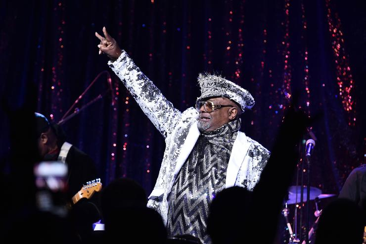 Singer/Songwriter George Clinton performs onstage at the 2017 SESAC Pop Awards on April 13, 2017 in New York City