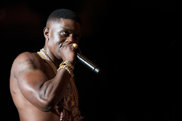 Torrence Hatch aka Lil Boosie performs at UNO Lakefront Arena on April 20, 2014 in New Orleans, Louisiana