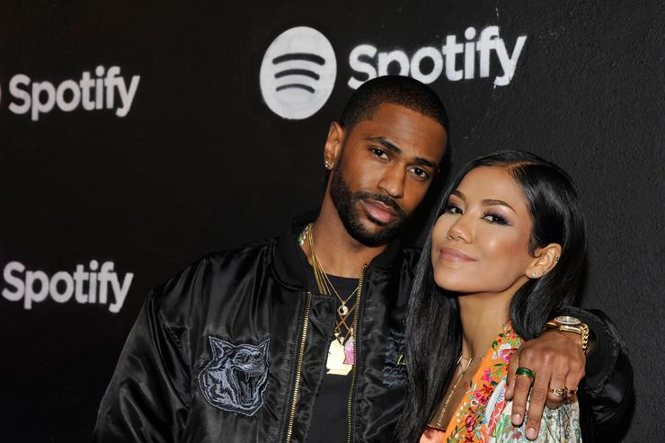 Rapper Big Sean and singer Jhene Aiko attend the Spotify Best New Artist Nominees celebration at Belasco Theatre on 9, 2017 in Los Angeles, California