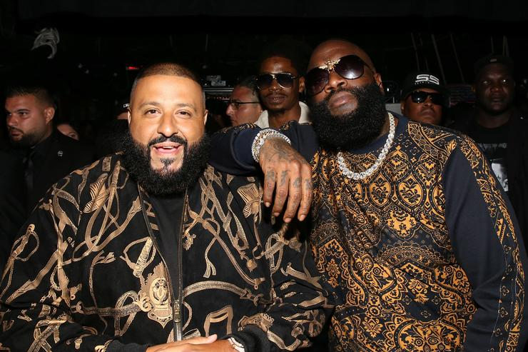 DJ Khaled and Rick Ross attend the BET Hip Hop Awards 2017 at The Fillmore Miami Beach at the Jackie Gleason Theater on October 6, 2017 in Miami Beach, Florida