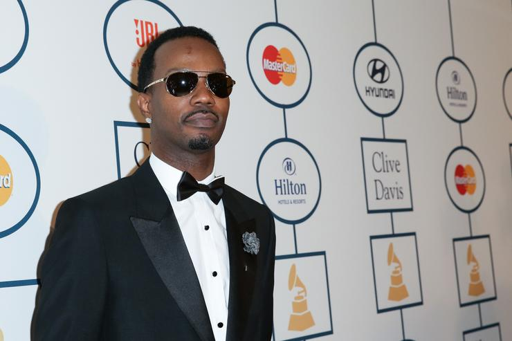 Rapper Juicy J arrives at the 2014 HYUNDAI / GRAMMYs Clive Davis Pre-GRAMMY Gala Activation + Equus Fleet Arrivals at The Beverly Hilton Hotel on January 25, 2014 in Beverly Hills, California
