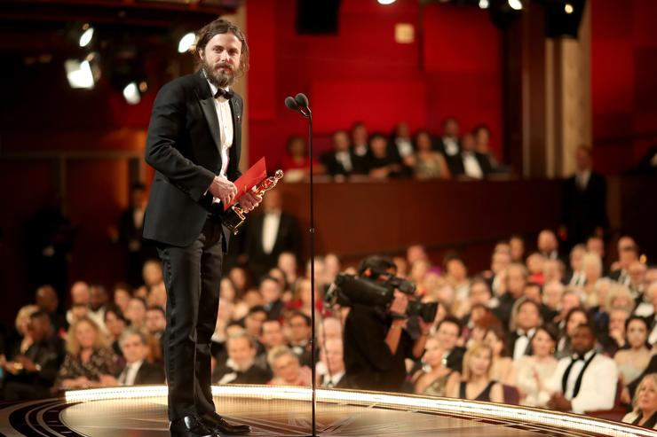 Actor Casey Affleck accepts the Best Actor award for 'Manchester by the Sea' onstage during the 89th Annual Academy Awards at Hollywood & Highland Center on February 26, 2017 in Hollywood, California.
