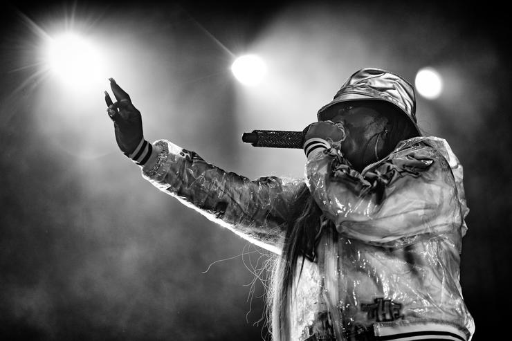 Missy Elliott performs onstage during day 1 of FYF Fest 2017 on July 21, 2017 at Exposition Park in Los Angeles, California