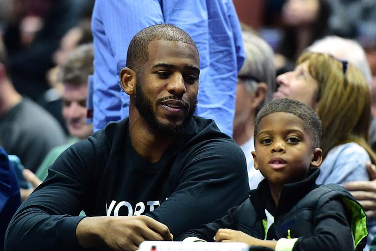 Chris Paul & son
