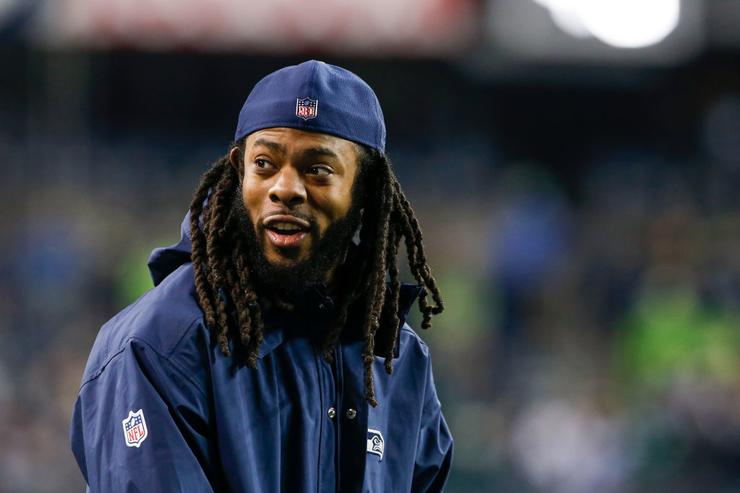 Richard Sherman to Seahawks Fans Burning His Jersey: 'I Didn't Abandon Anybody' class=