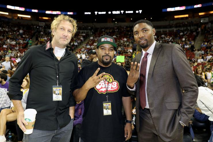 Jeff Kwatinetz, Ice Cube and Roger Mason Jr.