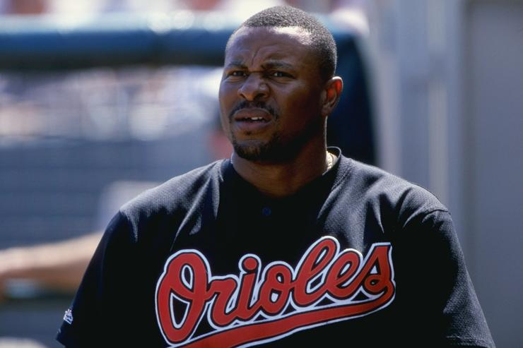 Albert Belle arrested during game on indecent exposure charges