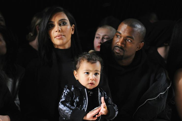 Kanye West & Kim Kardashian & Saint West