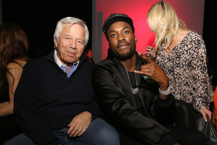 Robert Kraft Visits Rapper Meek Mill Behind Bars