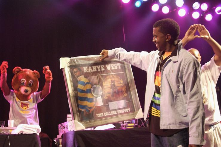 Kanye West & his first platinum album