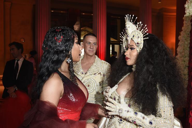 Nicki Minaj & Cardi B at Met Gala