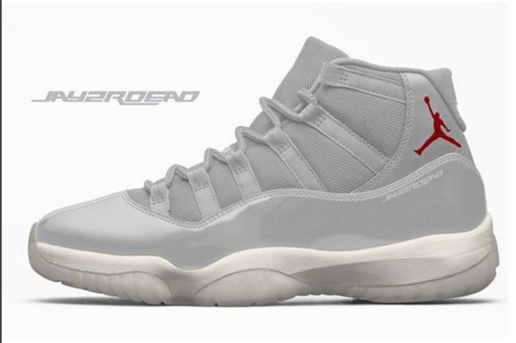 """Platinum"" Air jordan 11"