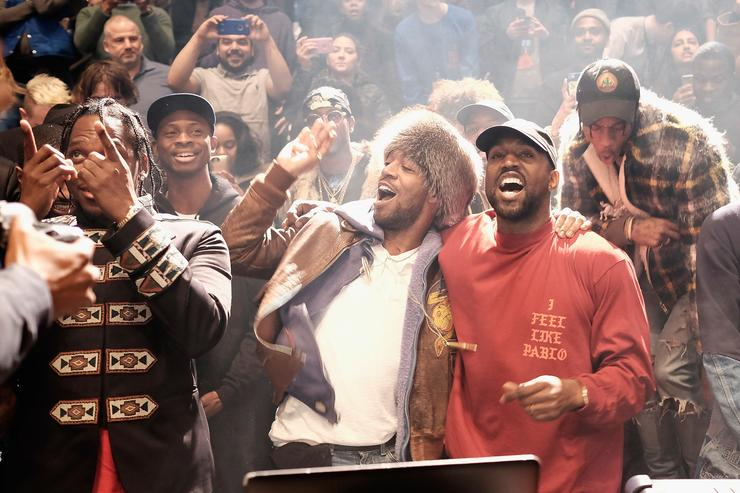 Kanye West and Kid Cudi hold listening party for new album