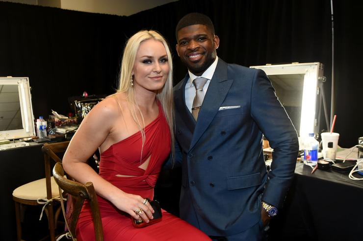 Lindsey Vonn, PK Subban Make Couple Debut at CMT Awards 2018