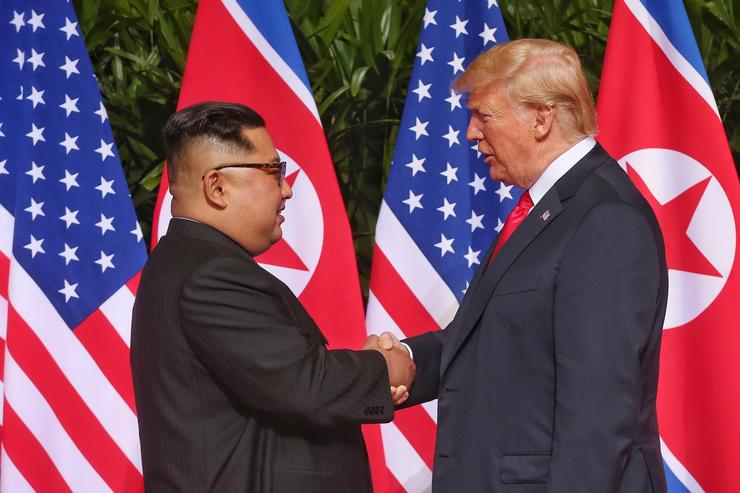 What's in the document that Kim and Trump signed?