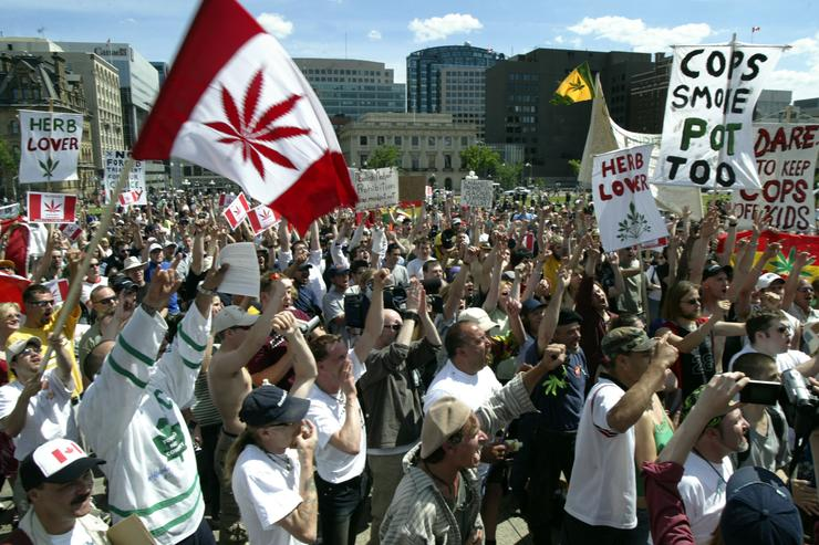 Canada Weed march