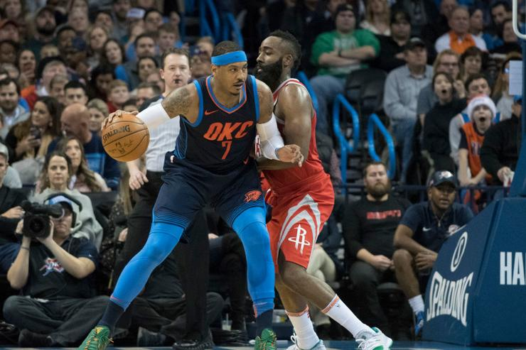 Carmelo Anthony could become free agent if Thunder can't find trade