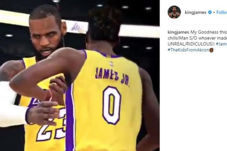 NBA 2K Mixtape Imagines LeBron James Teaming With Son On Lakers b5452234c
