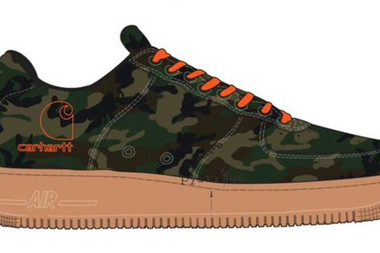 Carhartt x Nike Air Force 1 Low Collabs Coming Soon fa7ed07ea5