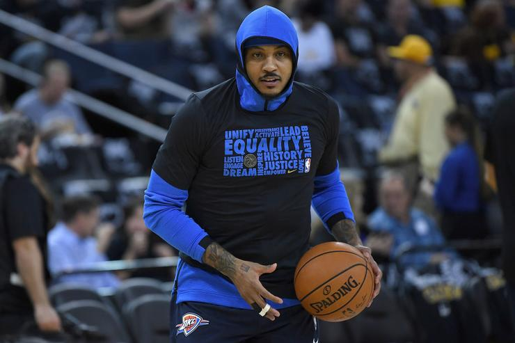 Carmelo Anthony's brief Hawks purgatory is over