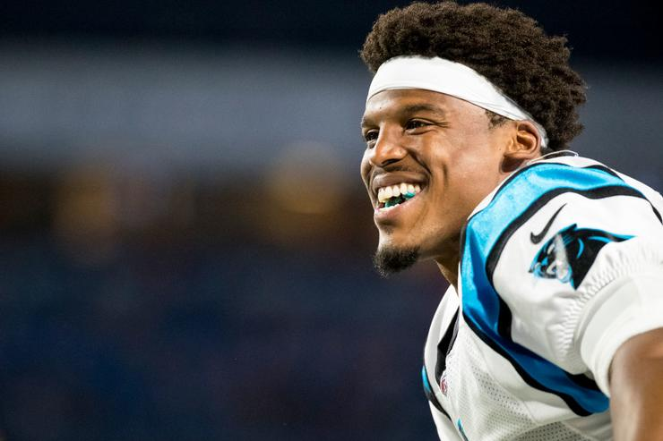 Cam Newton, Kelvin Benjamin Have Awkward Exchange Before Panthers-Bills Preseason Game