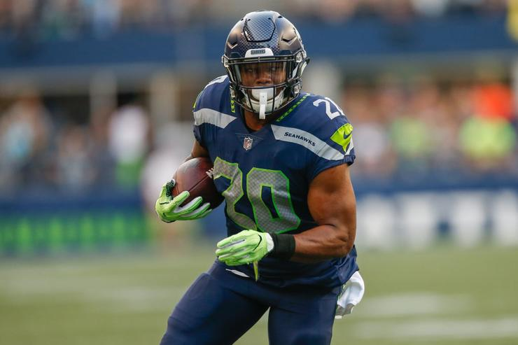Rashaad Penny, Seattle Seahawks rookie RB, has broken finger