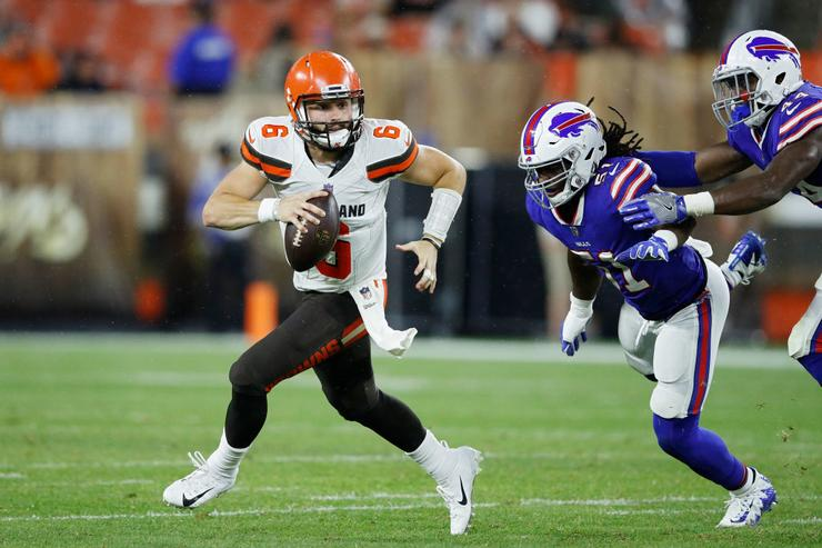 Baker Mayfield Imitates Browns GM John Dorsey For Rookie Show