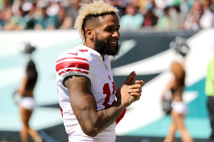 Odell Beckham celebrates new fortune with Sterling Shepard