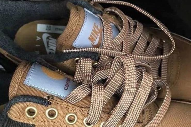 Carhartt x Nike Air Force 1 Rumored To Release Next Month  First Look ddf83373c044