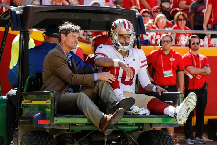 49ers QB Jimmy Garoppolo out for the season with knee injury