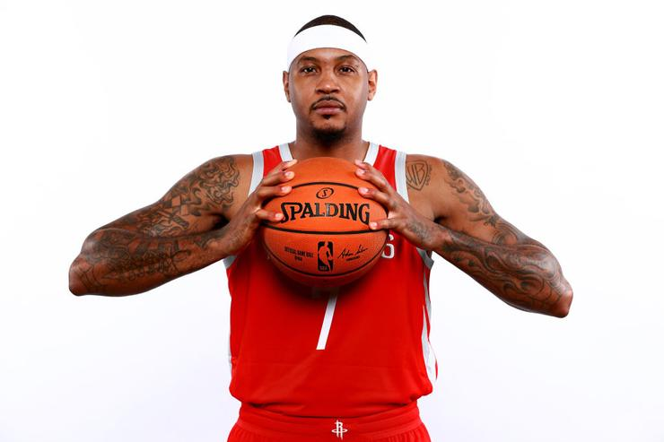 Carmelo Anthony hoping to find rhythm in reserve role with Rockets